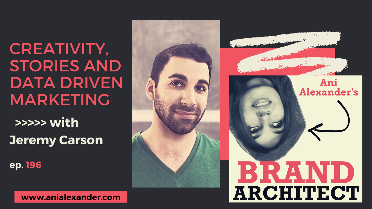 Creativity, stories and data driven marketing with @thejeremycarson
